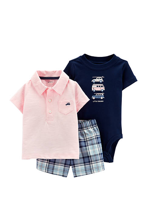Carter's® Baby Boys 3-Piece Little Short Set