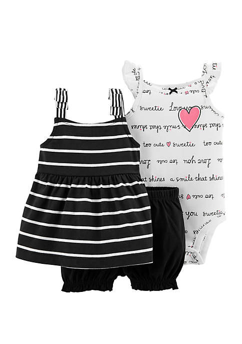 Carter's® Baby Girls 3-Piece Little Bubble Short Set