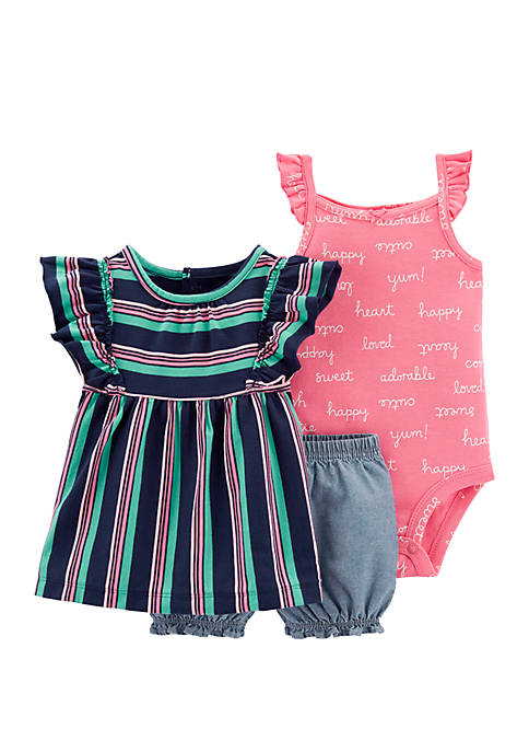 Carter's® Baby Girls 3 Piece Little Short Set