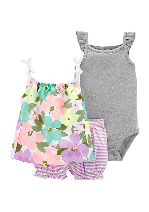 Carter's® Baby Girls 3 Piece Floral Little Short