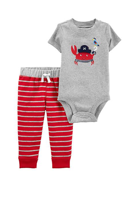 Carter's® Baby Boys 2-Piece Crab Bodysuit Pant Set
