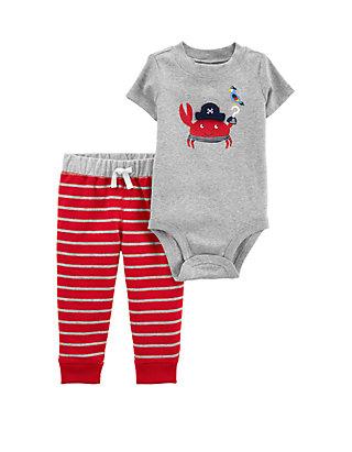 7216edaa4 Carter's® Baby Boys 2-Piece Crab Bodysuit Pant Set   belk