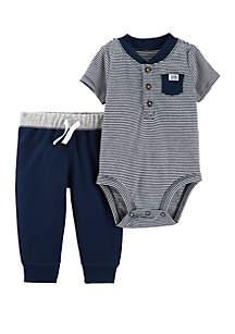 Carter's® Baby Boys Henley Bodysuit Pant Set