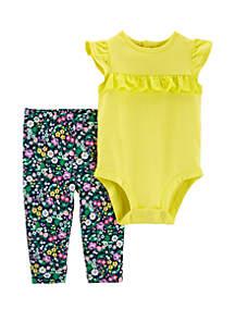 Baby Girls Lace Bodysuit Pant Set