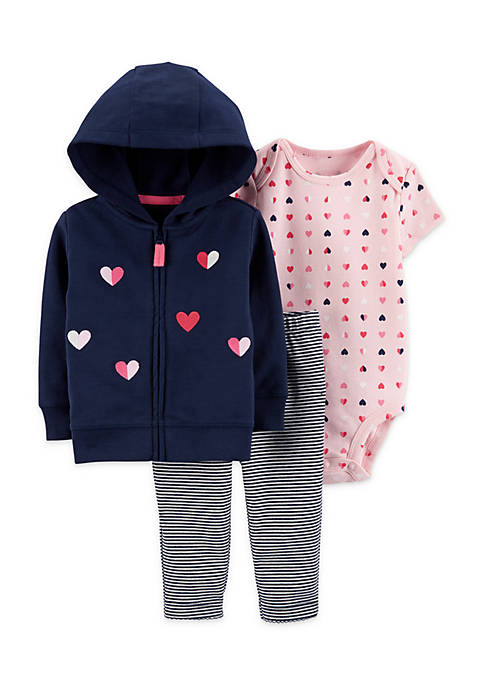 Carter's® Baby Girls 3-Piece Little Jacket Set