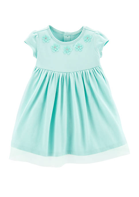 Carter's® Baby Girls Floral Tulle Jersey Dress