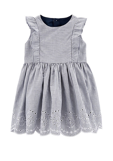Carter's® Baby Girls Striped Eyelet Dress