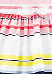 Baby Girls Striped Sateen Dress