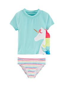 Baby Girls Unicorn Rashguard