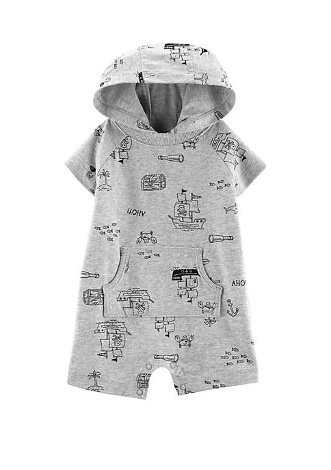 Baby Boys Pirate Hooded Romper
