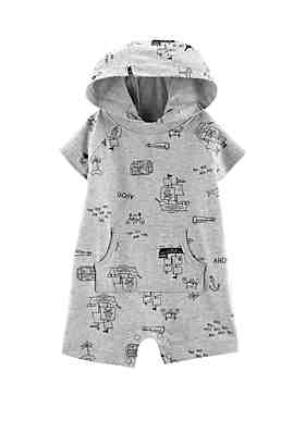 c60a079f3300d Carter's® Baby Boys Pirate Hooded Romper ...