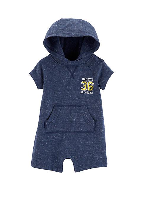 Carter's® Baby Boys Hooded Marled Yarn Romper
