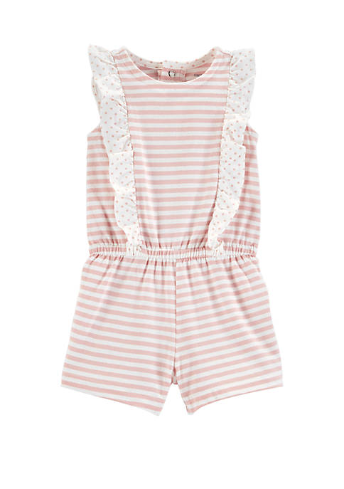 Carter's® Baby Girls Striped Ruffle Romper