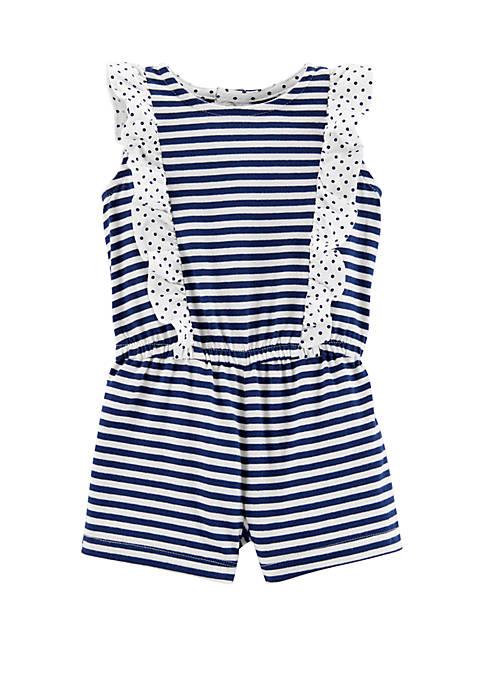 Carter's® Baby Girls Striped Jersey Romper