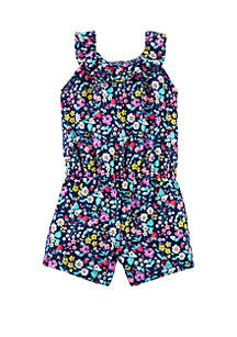 Baby Girls Floral Ruffle Romper