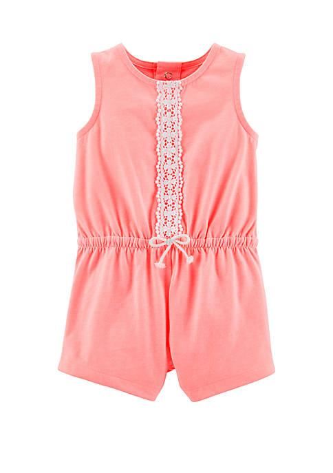 Carter's® Baby Girls Neon Jersey Romper