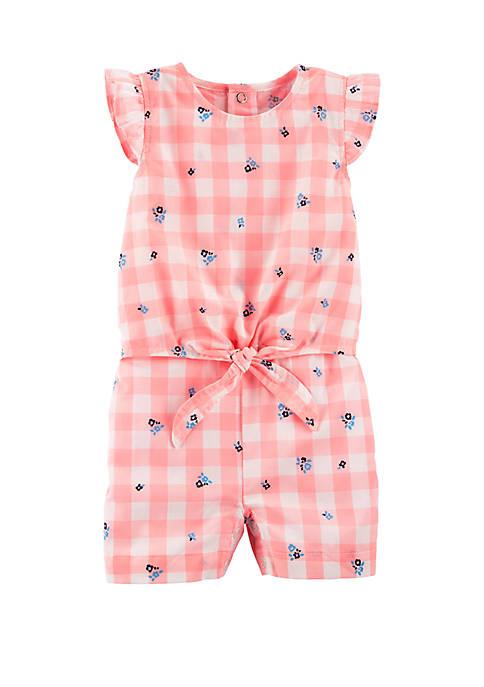 Carter's® Baby Girls Gingham Tie Waist Romper