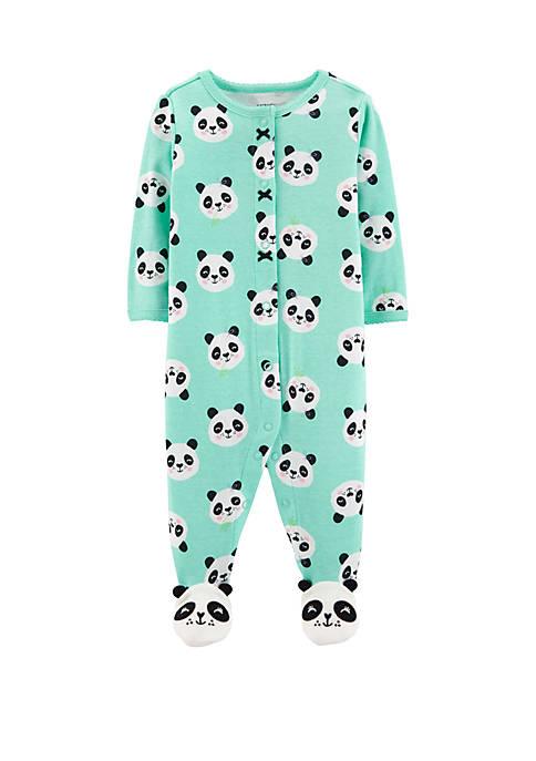 Carter's® Baby Girls Panda Snap-Up Cotton Sleep &