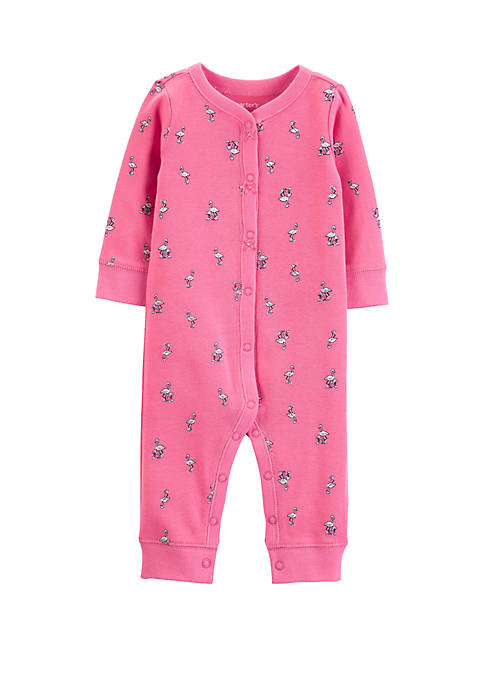 Carter's® Baby Girls Flamingo Snap-Up Cotton Footless Sleep