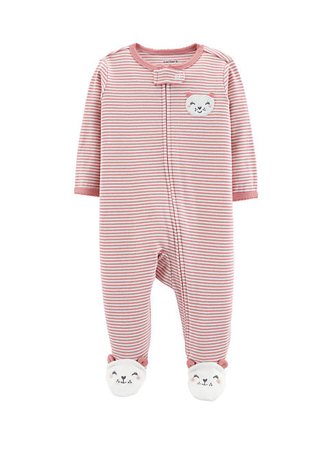 Carter's® Baby Girls Mouse Zip-Up Cotton Sleep &