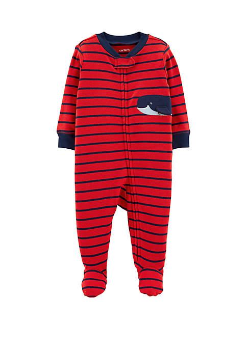 Carter's® Baby Boys Whale Zip-Up Cotton Sleep &