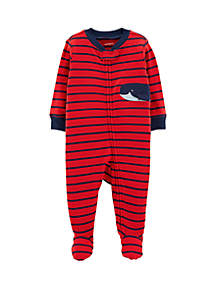 Carter's® Baby Boys Whale Zip-Up Cotton Sleep & Play
