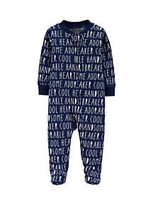 Baby Boys Little Guy Zip-Up Cotton Sleep & Play