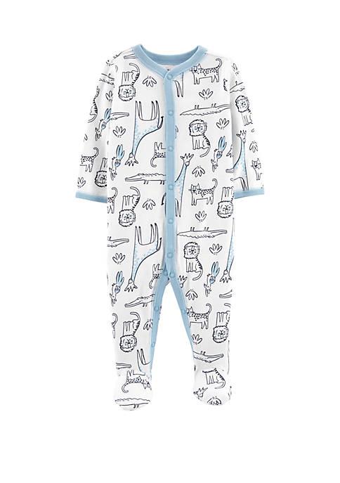Carter's® Baby Boys Safari Animal Snap-Up Cotton Sleep