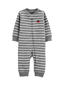 24fbaf24b8 ... Carter s® Baby Boys Striped Zip-Up Cotton Footless Sleep and Play