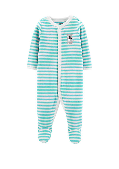Carter's® Baby Boys Striped Dog Snap-Up Terry Sleep
