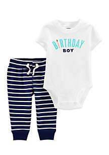 Baby Boys 2-Piece Birthday Boy Bodysuit Pant Set
