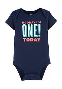 Baby Boys First Birthday Bodysuit