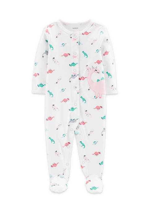 Carter's® Baby Girls Dinosaur Snap-Up Cotton Sleep &