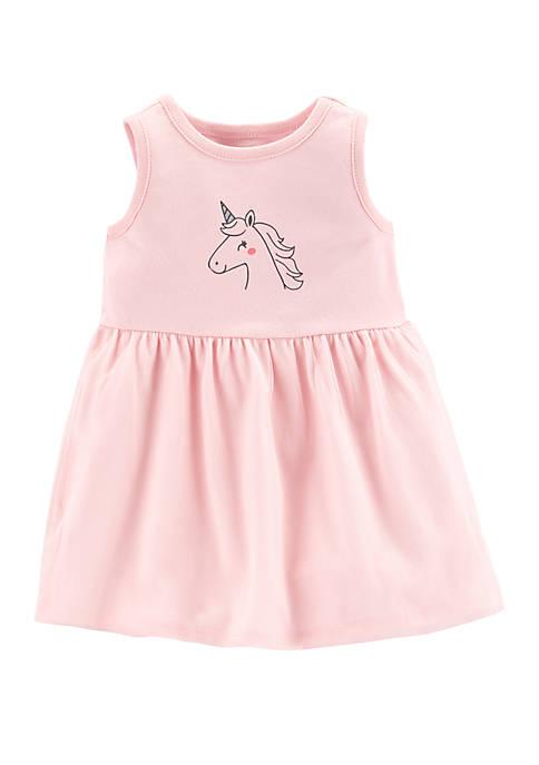 Carter's® Baby Girls Unicorn Tutu Jersey Dress