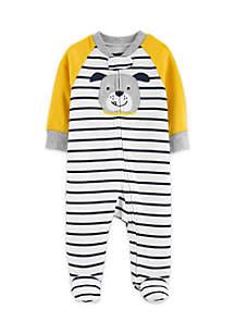 Baby Boys Dog Zip-Up Cotton Sleep & Play