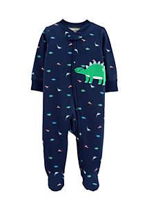 Baby Boys Dinosaur Zip-Up Sleep & Play