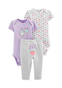 Baby Girls 3-Piece Ice Cream Little Character Set