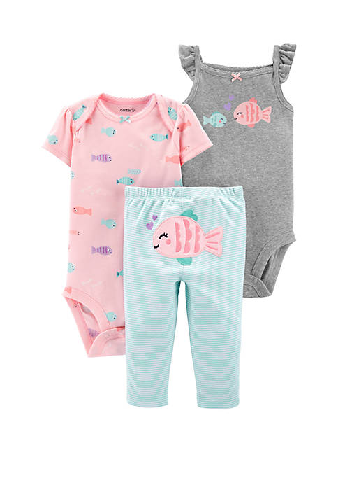 Carter's® Baby Girls 3-Piece Fish Little Character Set
