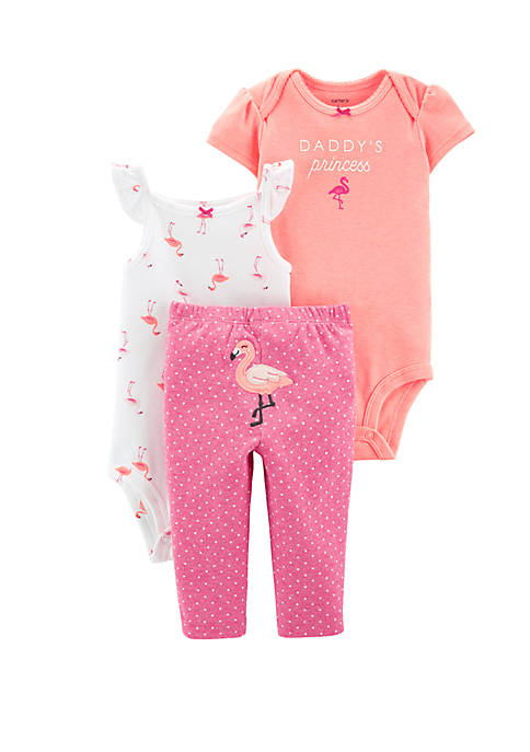 Daddy/'s Princess Carter/'s Baby 3 Piece Outfit Set - 2 One-Pieces and Pants
