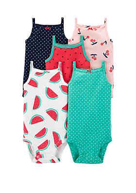 4b39e1d5396 Carter s® Baby Girls Tank Bodysuit ...