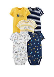 Baby Boys Monster Bodysuit Set