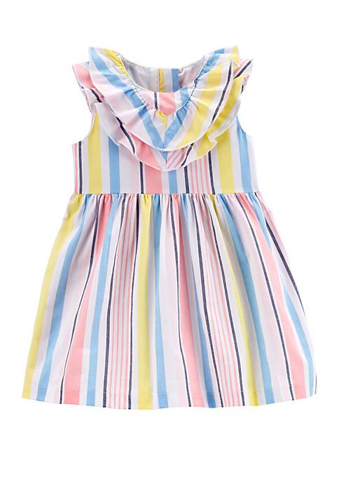 Baby Girls Striped Poplin Dress