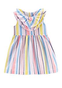 Carter's® Baby Girls Striped Poplin Dress
