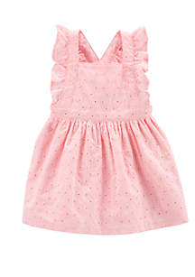 Carter's® Baby Girls Embroidered Eyelet Dress
