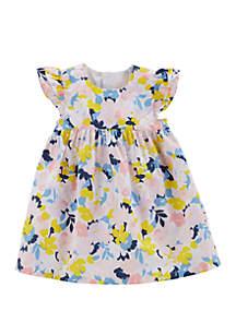 Carter's® Baby Girls Floral Poplin Dress