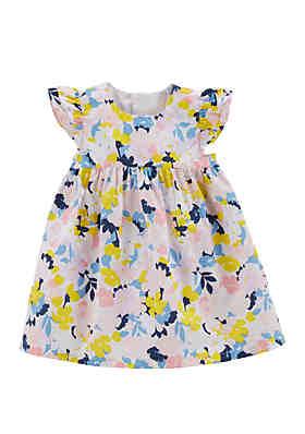 9f57caa6d9bbb Carter's® Baby Girls Floral Poplin Dress ...