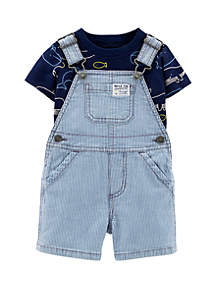Carter's® Baby Boys 2-Piece Whale Tee and Shortalls Set