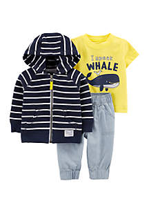 Carter's® Baby Boys 3-Piece Whale Little Jacket Set
