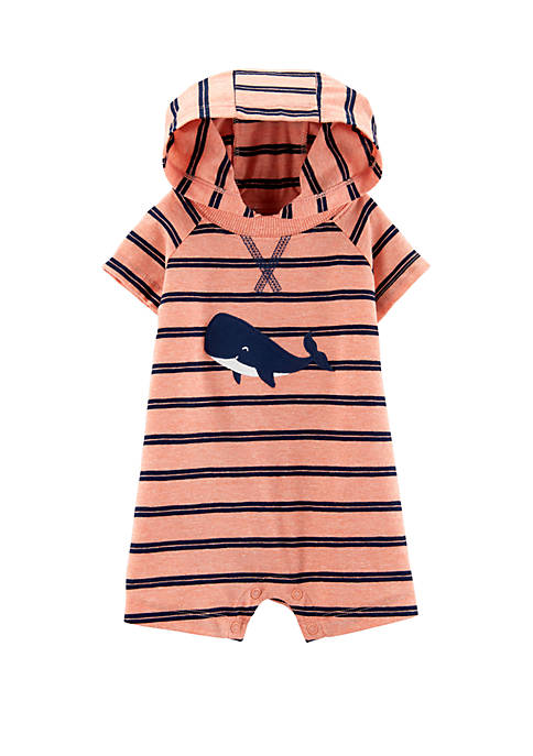 Baby Boys Whale Hooded Romper