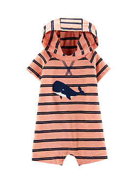 2bf4e57c2b0 Carter s® Baby Boys Whale Hooded Romper ...